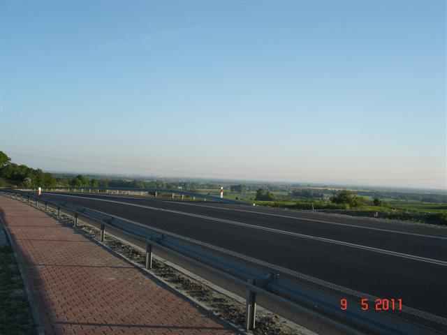 Panorama Wrocławia z ostatniej górki za Trzebnicą