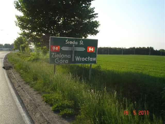 Dojazd do Środy Śląskiej