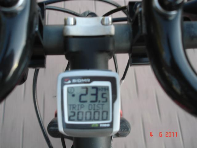 Pękła granica psychologiczna 200 km :)