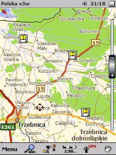 Lokalizacje startów.