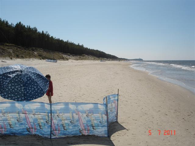 Taką plażę lubię w środku sezonu. Plażujemy.