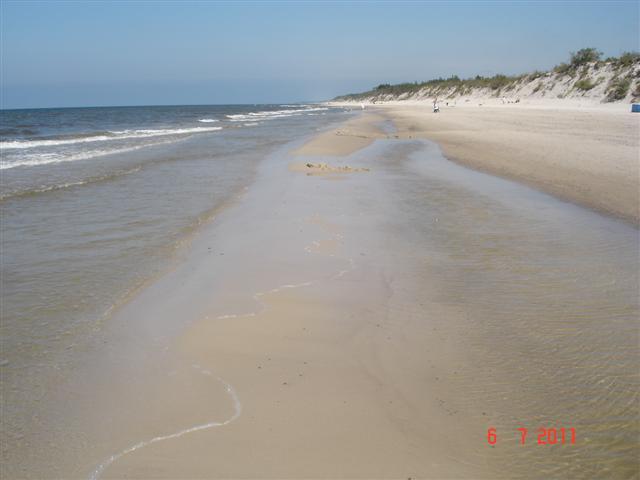 Taką plażę lubię w środku sezonu.