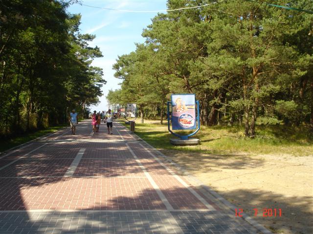 Główne wejście na plażę, od kampingu do morza 150m