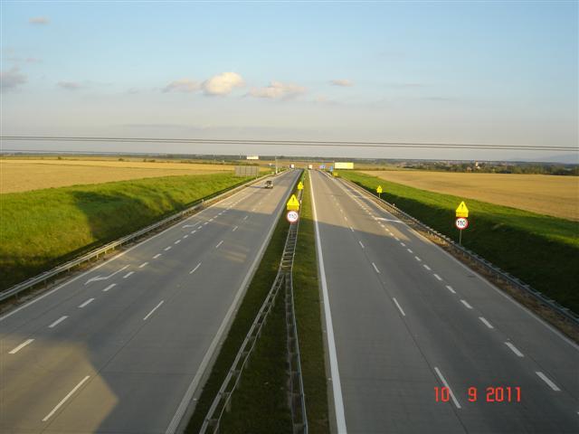A4 w kierunku Wrocława, na wysokości Środy Śląskiej