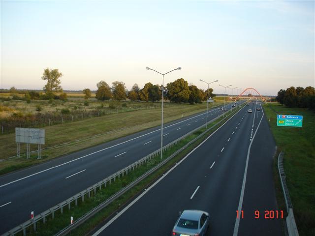 A4 w kierunku Opola na wysokości Oławy