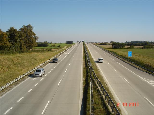Przejazd nad A4 w okolicy Prochowic