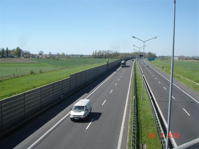 Przejazd na A4 w drodze do Strzelina