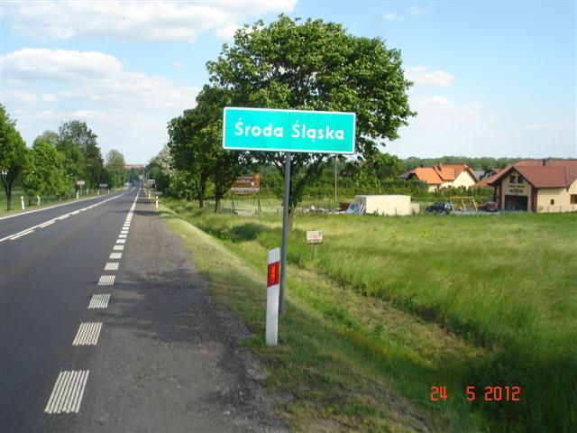 Wjazd do Środy Śląskiej