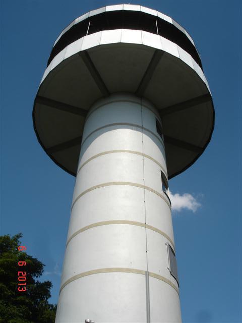 Szczyt Melibokus 514 mnpm - wieża widokowa