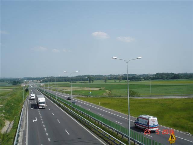 Autostrada A8 przed Sycowem